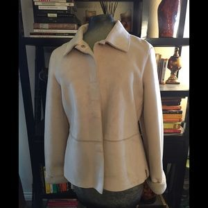 Mudd cream faux suede shearling snap up jacket